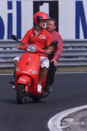 Michael Schumacher, Ferrari, Jean Todt, Ferrari on a two-wheeler