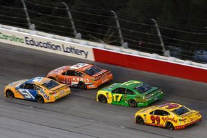B.J. McLeod, Rick Ware Racing, Chevrolet Camaro Jacob Companies, Daniel Suarez, Joe Gibbs Racing, Toyota Camry ARRIS, Ricky Stenhouse Jr., Roush Fenway Racing, Ford Fusion John Deere and Derrike Cope, StarCom Racing, Chevrolet Camaro Bojangle's