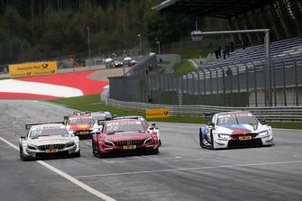 Marco Wittmann, BMW Team RMG, BMW M4 DTM, Edoardo Mortara, Mercedes-AMG Team HWA, Mercedes-AMG C63 DTM, Pascal Wehrlein, Mercedes-AMG Team HWA, Mercedes-AMG C63 DTM