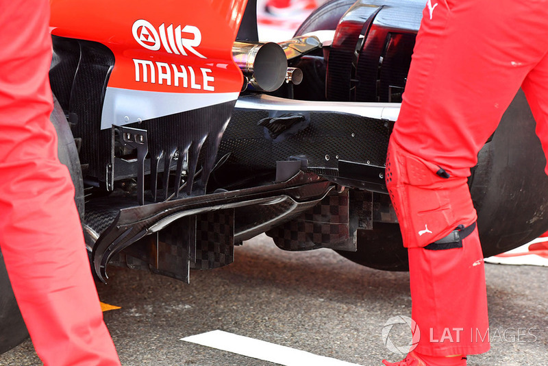 Ferrari SF71H rear diffuser detail