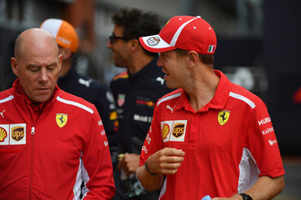 Sebastian Vettel, Ferrari and Jock Clear, Ferrari Chief Engineer