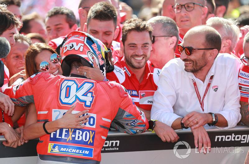 Ganador de la carrera Andrea Dovizioso, Ducati Team