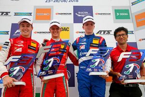 Podium: Race winner Mick Schumacher, PREMA Theodore Racing Dallara F317 - Mercedes-Benz, second place Marcus Armstrong, PREMA Theodore Racing Dallara F317 - Mercedes-Benz, third place Robert Shwartzman, PREMA Theodore Racing Dallara F317 - Mercedes-Benz