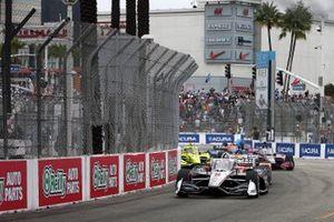Inizio di gara Josef Newgarden, Team Penske Chevrolet conduce