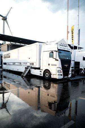 Truck of #10 Schubert Motorsport BMW M6 GT3: Nick Yelloly, Jesse Krohn