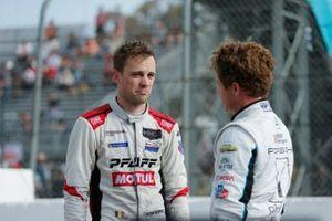 #9: Pfaff Motorsports Porsche 911 GT3R, GTD: Laurens Vanthoor, #16: Wright Motorsports Porsche 911 GT3R, GTD: Patrick Long