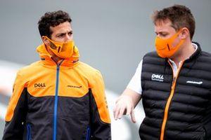 Daniel Ricciardo, McLaren walks the track