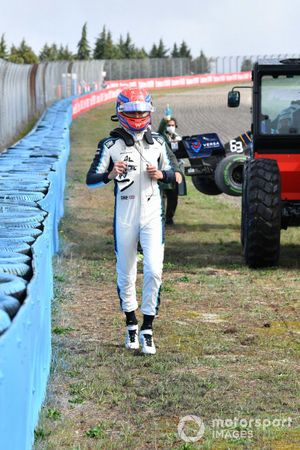 George Russell, Williams FW43B tras salirse de pista