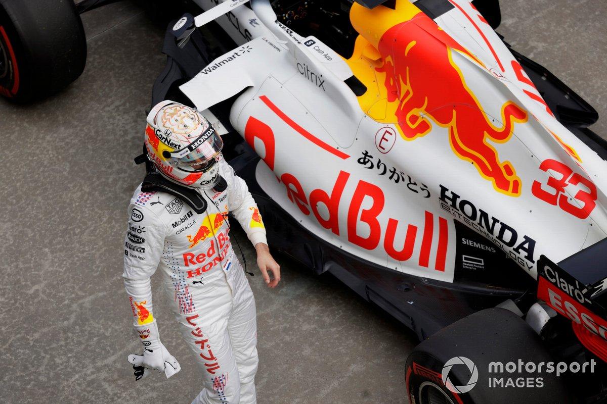 Max Verstappen, Red Bull Racing, arriva al Parc Ferme dopo le Qualifiche