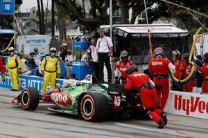 Oliver Askew, Rahal Letterman Lanigan Racing Honda, pit stop