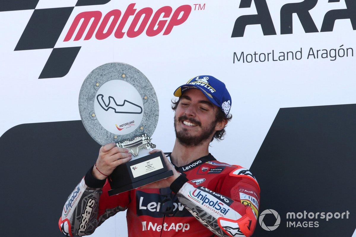 Il vincitore della gara Francesco Bagnaia, Ducati Team