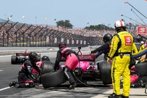 Jack Harvey, Meyer Shank Racing Honda pit stop