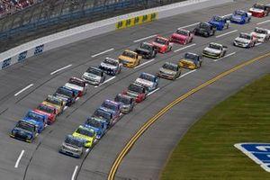 Ben Rhodes, ThorSport Racing, Toyota Tundra Bombardier LearJet 75, Todd Gilliland, Front Row Motorsports, Ford F-150 Speedco, Matt Crafton, ThorSport Racing, Toyota Tundra Zep/Menards
