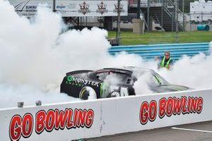 Race winner Ty Gibbs, Joe Gibbs Racing, Toyota Supra Monster Energy