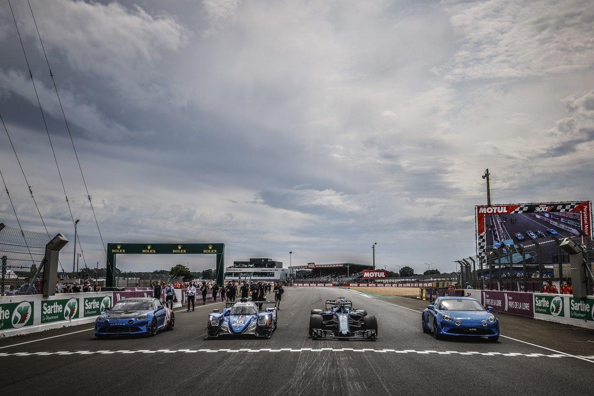 Coches de carreras de Alpine: F1, LMP2, R-GT y GT4 en las 24h de Le Mans