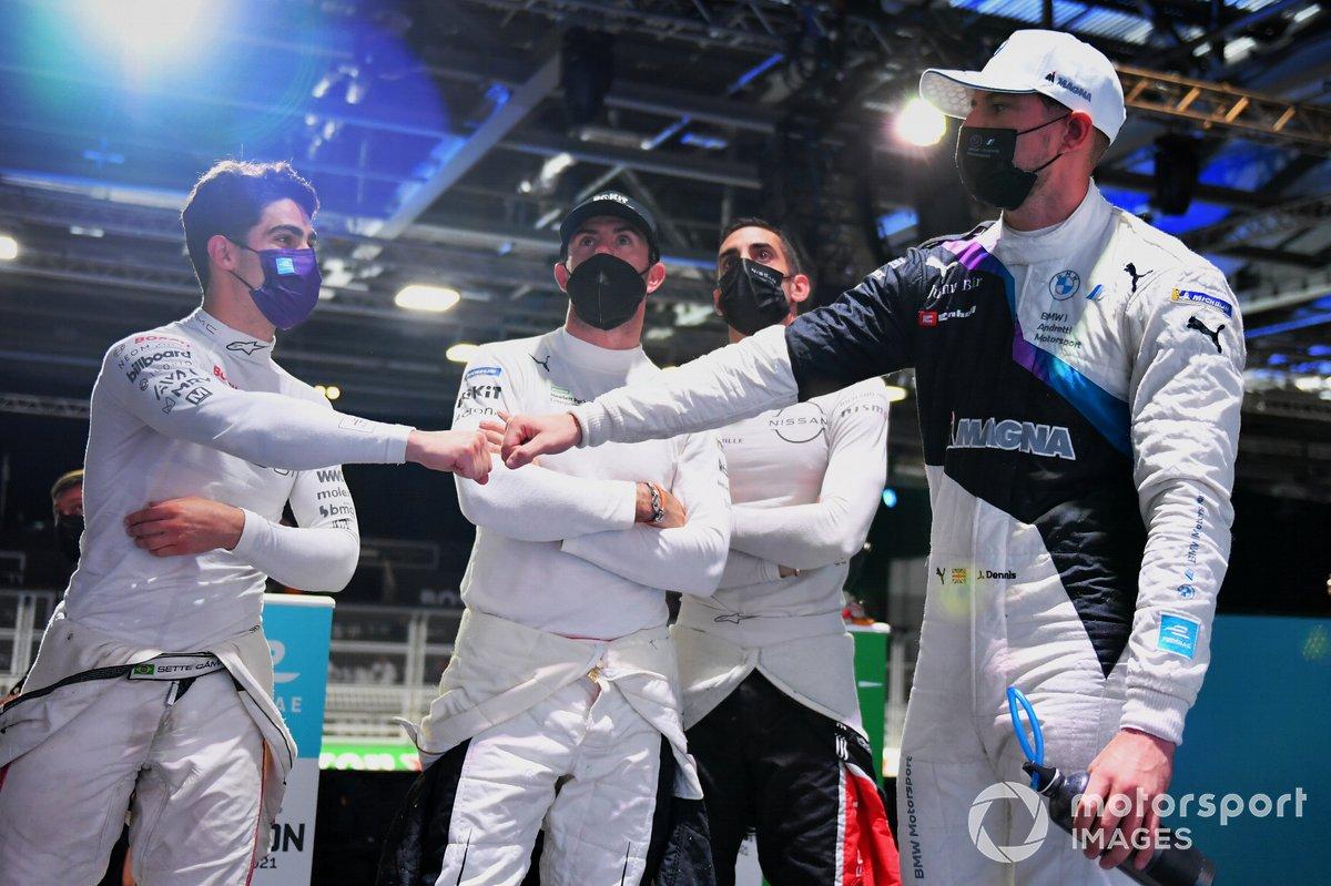 Sergio Sette Camara, Dragon Penske Autosport, Norman Nato, Venturi Racing, Sebastien Buemi, Nissan e.Dams, Jake Dennis, BMW i Andretti Motorsport
