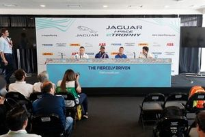 Simon Evans, Team Asia New Zealand, Cacá Bueno, Jaguar Brazil Racing,Bryan Sellers, Rahal Letterman Lanigan Racing, Sérgio Jimenez, Jaguar Brazil Racing, in the press conference