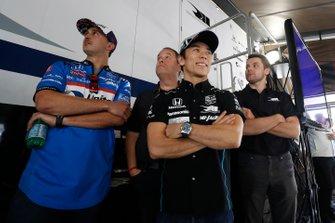 Graham Rahal, Rahal Letterman Lanigan Racing Honda, Takuma Sato, Rahal Letterman Lanigan Racing Honda, Jordan King
