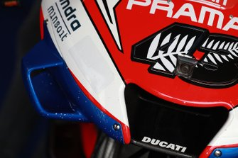 Jack Miller, Pramac Racing's Ducati, Alma sponsor sticker covered up