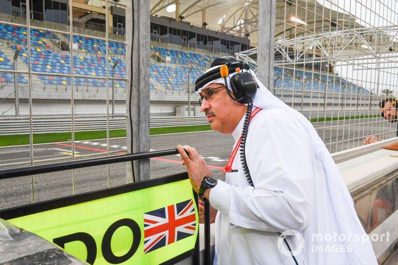 Lo Sceicco Mohammed bin Essa Al Khalifa, CEO del Consiglio per lo sviluppo economico del Bahrain e azionista McLaren