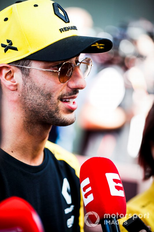 Daniel Ricciardo, Renault F1 Team basın toplantısında