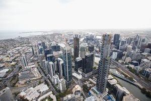 Aerial over Melbourne