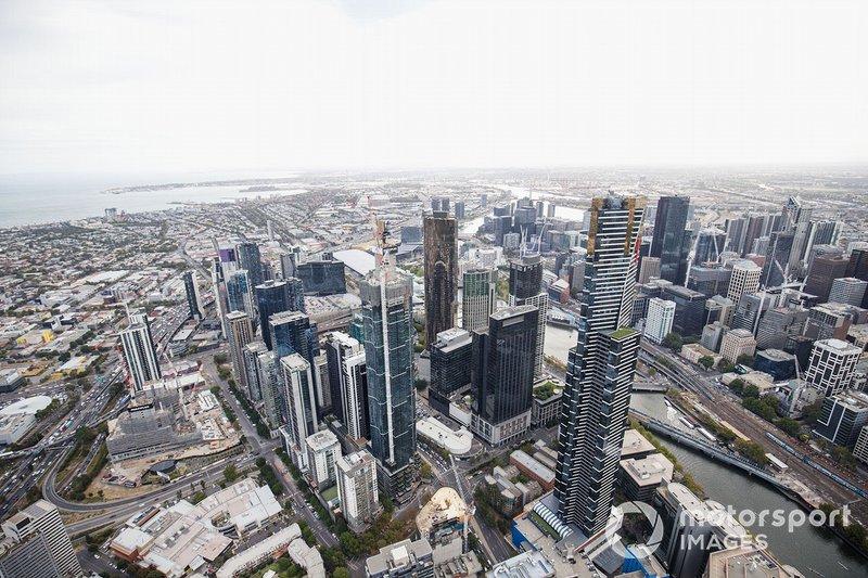 Vista Aérea sobre Melbourne