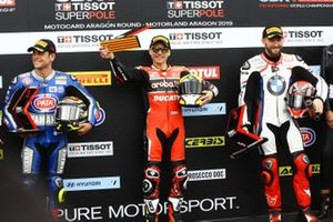 Sandro Cortese, GRT Yamaha WorldSBK, Alvaro Bautista, Aruba.it Racing-Ducati Team, Tom Sykes, BMW Motorrad WorldSBK Team