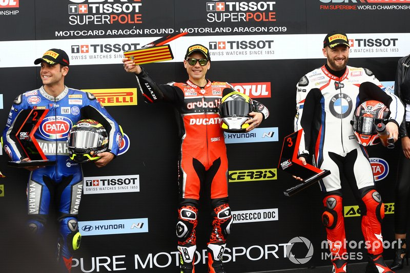 Sandro Cortese, GRT Yamaha WorldSBK, Alvaro Bautista, Aruba.it Racing-Ducati Team, Tom Sykes, BMW Motorrad WorldSBK Team