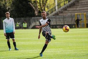 Jean-Eric Vergne, DS TECHEETAH, au match de football entre la Formule E et l'AS Roma