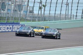 #19 MP1B Porsche 991 driven by Lino Fayen & Juan Fayen of Formula Motorsport, #10 MP1B Porsche GT3 Cup driven by Bart Collins & Danny Von Dongen of MCR Racing