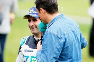 Sérgio Jimenez, Jaguar Brazil Racing being interviewed by TV Presenter Vernon Kay