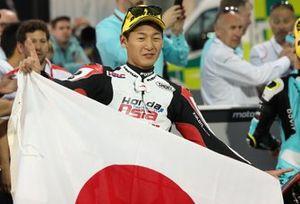 Le vainqueur Kaito Toba, Honda Team Asia