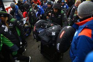Schneefall am TT Circuit Assen