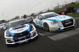Senna Proctor, Team BMR Subaru Levorg and Mark Blundell, Trade Price Cars Audi