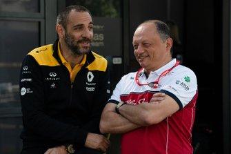 Cyril Abiteboul, directeur général Renault F1 Team, et Frédéric Vasseur, Team Principal, Alfa Romeo Racing