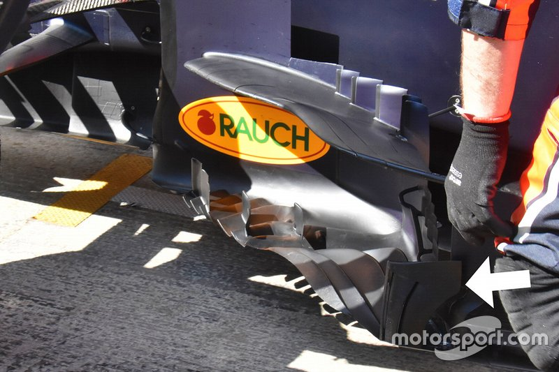 Détails du ponton de la Red Bull Racing RB15