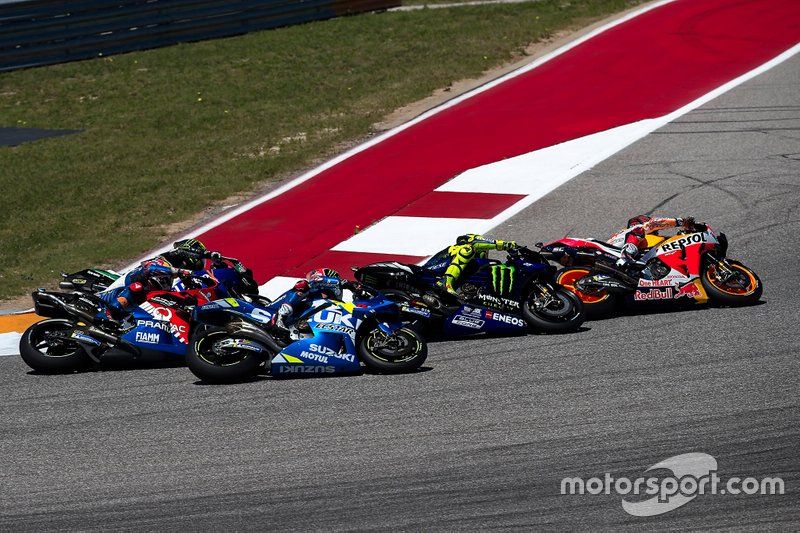 Marc Marquez, Repsol Honda Team, Valentino Rossi, Yamaha Factory Racing, Alex Rins, Team Suzuki MotoGP, Jack Miller, Pramac Racing