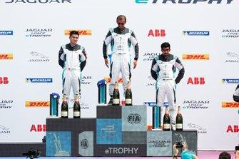 Bandar Alesayi, Saudi Racing, Yaqi Zhang, Team China, Ahmed Bin Khanen, Saudi Racing, on the podium