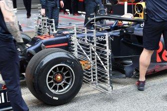 Max Verstappen, Red Bull Racing RB15 met aerosensors