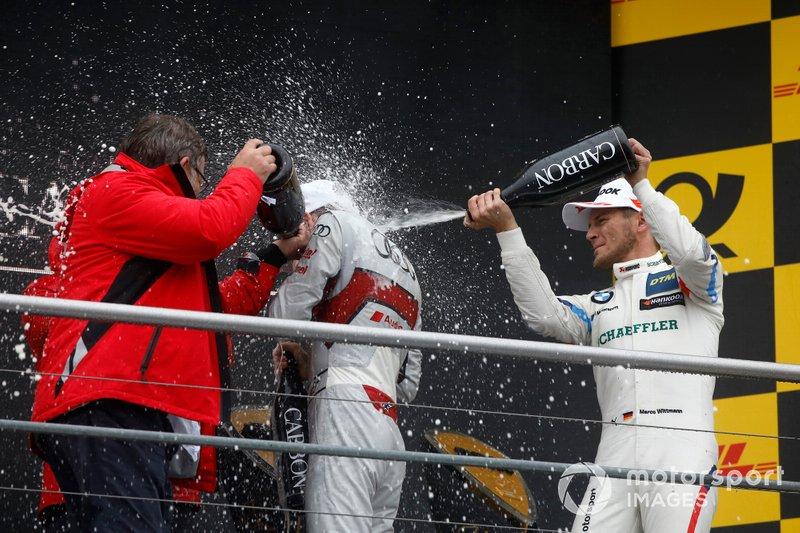 Champion Podium: René Rast, Audi Sport Team Rosberg, Marco Wittmann, BMW Team RMG, Hans-Joachim Rothenpieler, Member of the board, Audi AG