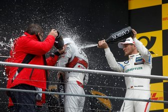 Champion Podium: René Rast, Audi Sport Team Rosberg, Marco Wittmann, BMW Team RMG, Hans-Joachim Rothenpieler, Member of the board, Audi AG