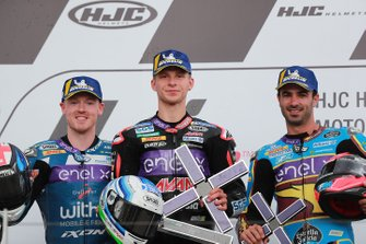Podium: winnaar Niki Tuuli, Ajo Motorsport, tweede Bradley Smith, SIC Racing Team, derde Mike di Meglio, Marc VDS Racing