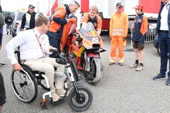 Bike of Johann Zarco, Red Bull KTM Factory Racing after his crash