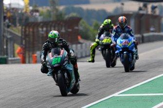 Franco Morbidelli, Petronas Yamaha SRT, Alex Rins, Team Suzuki MotoGP, Valentino Rossi, Yamaha Factory Racing