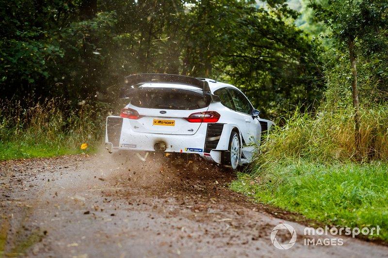 Valtteri Bottas tests an M-Sport Ford Fiesta WRC