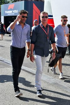 Mark Webber et David Coulthard