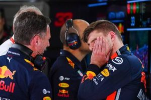 Christian Horner, Team Principal, Red Bull Racing, and Max Verstappen, Red Bull Racing