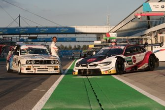 Timo Glock, BMW Team RMG con BMW E30 DTM and his BMW M4 DTM