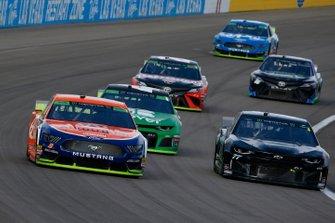 Brad Keselowski, Team Penske, Ford Mustang Autotrader and Reed Sorenson, Spire Motorsports, Chevrolet Camaro